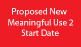 Meaningful Use 2 Start Date