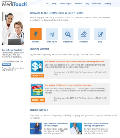 Info on chronic care management and more