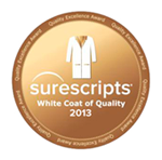 Surescripts White coat of quality for 2013