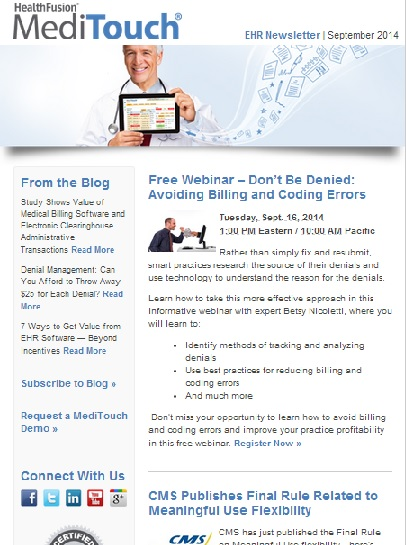 EHR Software Newsletter