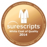 HealthFusion EHR Software awarded Surescripts White Coat of Quality award 2014